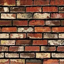 rust red brick wallpaper counter top