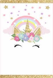 Convite Animado Unicornio Para Editar Gratis Invitacion De Unicornio Invitaciones Unicornio Cumpleanos Unicornio