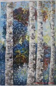 China Large Size Birch Tree Landscape Canvas Wall Art Oil Paintings China Oil Paintings And Handmade Oil Paintings Price
