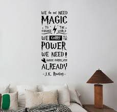 J K Rowling Quote Wall Decal Harry Potter Vinyl Sticker Movie Art Decor Hpq3 Ebay