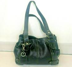 tignanello medium black pebbled leather