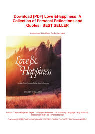 pdf love happiness a collection of personal reflections