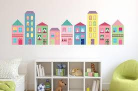 Pastel Girly City Wall Decal Sticker Set Wall Decal Wallmonkeys Com