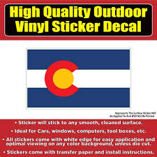 Colorado State Flag Vinyl Car Window Laptop Bumper Sticker Decal Colorado Sticker