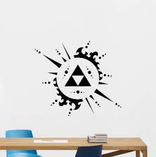 Amazon Com Legend Of Zelda Triforce Wall Decal Video Game Vinyl Sticker Decor Poster Abstract Removable Wall Stickers Living Room Home Kitchen