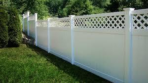 Vinylfencewholesaler 6 Ft H X 8 Ft W Rainier With Lattice Fence Panel Wayfair