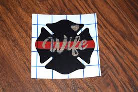 Firefighter Wife Decal Firefighter Wife Fire Wife Etsy Fire Wife Firefighter Wife Glitter Decal