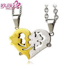 heart necklaces couple necklaces