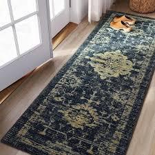 runner vintage tufted distressed rug