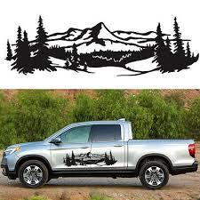 2 X Car Trailer Truck Mountain Decal Tree Forest Diy Vinyl Graphic Sticker Ebay
