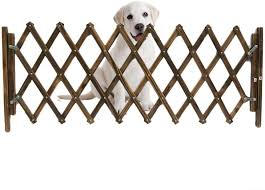 Dog Gate Carbonized Pet Fence Dog Gates Indoor Retractable Dog Sliding Door Children S Playpen Small Dogs Gate Guard Net Wooden Fence Amazon Ca Pet Supplies