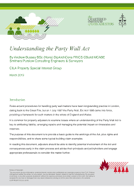Https Www Cila Co Uk Cila Download Link Sig Downloads Property Files 16 343 Cila Property Sig Understanding The Party Wall Act Mar19
