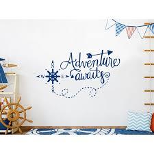 Harriet Bee Adventure Awaits Nautical Compass Nursery Wall Decal Reviews Wayfair