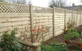 Horizontal Lattice Top Fence Panel Chart Fencing
