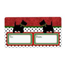 gifts scottie dog fun label