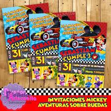 Kit Imprimible Mickey Aventuras Sobre Ruedas Personalizado 199