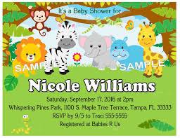 20 Zoo Jungle Safari Animals Baby Shower Invitations W Envelopes