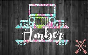 Jeep Monogram Vinyl Decal Sticker For Car Window Yeti Tumbler Cup Country Girl 5 00 Picclick