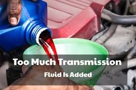 too much transmission fluid