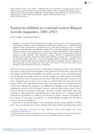 pdf science for children in a colonial context bengali juvenile