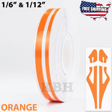 1 2 Vinyl Double Line Pinstriping Pin Stripe Decal Tape Sticker 12mm Orange Ebay