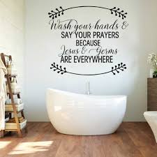 Bathroom Words Jesus And Germs Wall Decal Bathroom Shower Wash Your Hand Quote Wall Sticker Vinyl Home Decor Kitchen Art Wall Stickers Aliexpress