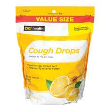 dg health cough drops honey lemon