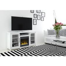 media console electric fireplace tv