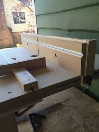 Homemade Router Table T Track To Move Fence Forward And Back T Track On Fence To Put Featherboards Miter Gauge Homemade Router Table Router Table Wood Shop