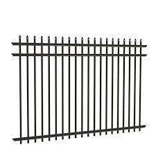 Tuffbilt Cascade Heavy Duty 5 Ft H X 8 Ft W Black Aluminum Pre Assembled Fence Panel 73003515 The Home Depot