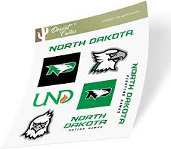 Amazon Com University Of North Dakota Und Fighting Hawks Nodak Ncaa Sticker Vinyl Decal Laptop Water Bottle Car Scrapbook Type 2 Sheet Arts Crafts Sewing