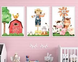 Farm Kids Room Decor Etsy