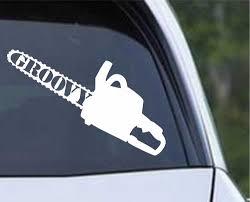 Evil Dead Chainsaw Vinyl Die Cut Decal Sticker Texas Die Cuts