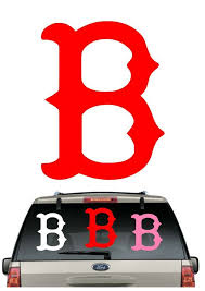 Buy 2 Get 1 Free Red Sox B Car Decal Various Size Color Window Sticker Flag Bostonredsox Sticker Flag Boston Red Sox Mlb Flags