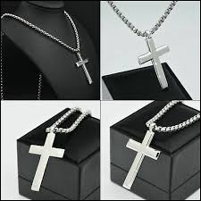cross pendant long necklace classic