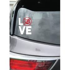 Mary B Decorative Art Fireman Love Vinyl Decal Sticker Car Window 5 5 Inch Laptop Flat Surface
