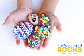 easy art for kids puffy painted rocks