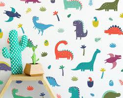 Dinosaur Wall Decals Wall Decor Dinosaur Decor Nursery Decor Gift For Kid Boys Room Decor Girls Room Decor Reusable Wall Decals