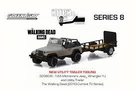 The Walking Dead Michonne S Jeep Wrangler Yj Trailer Beige Greenlight 32080b 1 64 Scale Diecast Model Toy Car Walmart Com Walmart Com