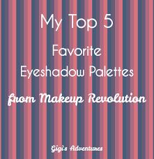 my top 5 favorite eyeshadow palettes