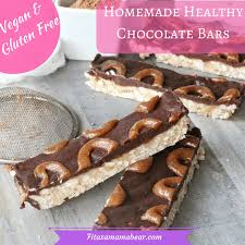 healthy homemade candy bars with