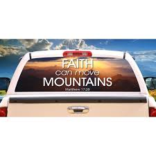 Move Mountains Rear Window Graphic Truck View Thru Vinyl Decal Back Walmart Com Walmart Com