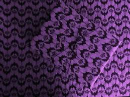 baroque bats on purple wrapping paper