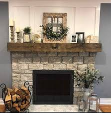 rustic fireplace mantel shelf wooden