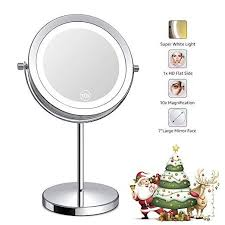 lighted makeup mirror led double sided