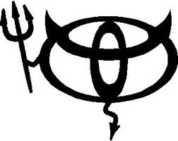 Toyota Devil Decal Sticker