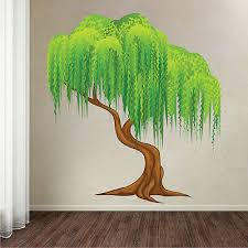 weeping willow tree wall decal mural