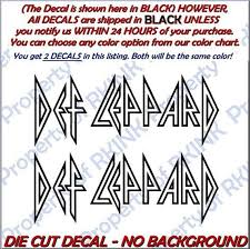 Def Leppard 1a Set Of 2 Vinyl Decals Decal For Car Truck Etsy