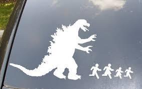 Monstrous Car Decals Godzilla Movie