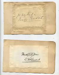 5 RARE AUTOGRAPHS-1800S-WILLIAM HUNTER KENDAL,MADGE KENDAL,FELIX MORRIS    eBay